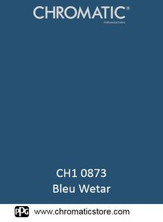 Finalisez votre projet #peinture avec le #Bleu #Wetar en vous rendant dans l'un de nos points de vente partenaires. Trouvez votre distributeur sur www.chromaticstore.com