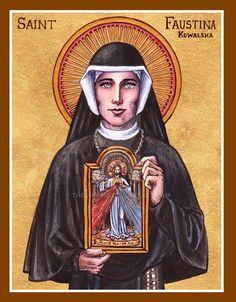 Santa Faustina - 5 de Outubro (By Theophilia)