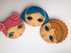 Three sisters ;) Polymer clay brooches