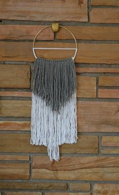 Medium  Sultry Boho Chic Gray & White Mixed Fiber by AstralRiles