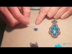 Orecchini brick stitch - YouTube