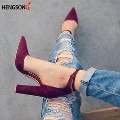 2017 Sandálias de Verão dos Saltos Altos das Mulheres Rebanho Outono Sapatos de Mulher senhoras Bombas Sexy sapatos de Salto Fino Ar Calçado Mulheres Sapatos Rendas Up
