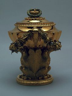 Triangular salt-cellar with cover 1618 Silver, parcel-gilt, height 30 cm Rijksmuseum, Amsterdam CELLINI, Benvenuto Salt Cellar 1540-...