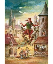 "Till Eulenspiegel Advent Calendar ~ Germany ~ 14-3/4"" x 10-1/4"""