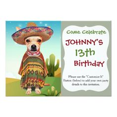 #Mexican dog chihuahua card - #chihuahua #puppy #dog #dogs #pet #pets #cute
