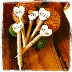 Found on Weddingbee.com Share your inspiration today! Guest book pin ideas for rustic theme.