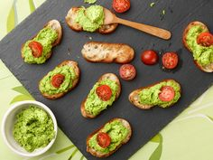 Pea Pesto Crostini Recipe from Giada De Laurentiis at the Food Network. To make it vegan I leave out the parmesean (duh), and to lighten up on the fat I use a cup of silken tofu. The result: a creamy pesto sauce that's great on pasta.