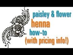 How to Draw a Flower & Paisley Henna / Mehndi design : festival pricing - YouTube