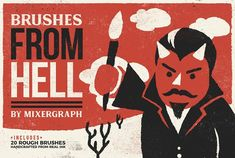 Brushes From Hell by Mixergraph on @creativemarket