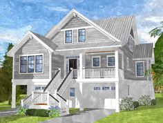 Total square footage of 2571 includes finished Ground Floor of 544 square feet. Square footage without Finished Floor level is Beach House Floor Plans, Coastal House Plans, Southern House Plans, Cottage House Plans, New House Plans, Coastal Cottage, Coastal Homes, Cottage Homes, Beach Homes