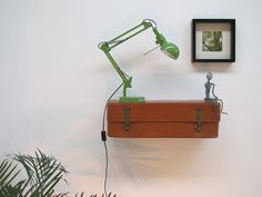 SeTwo Shop - SeTwo www.setwo.co.uk One Off Suitcase Shelves Vintage Repurposed Recyled Bespoke Handmade - For Sale Suitcase Shelves, Desk Lamp, Table Lamp, Forced Labor, Helping Other People, Bespoke, Repurposed, Shop, Handmade