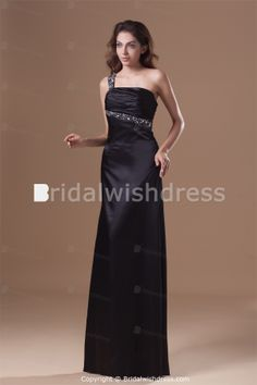 Inverted Triangle Beading One Shoulder Prom Special Occasion Dresses -Special Occasion  #blackpromdress #eveningdress #blackdress