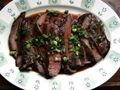 Ginger-Soy Marinated Flank Steak | www.injennieskitchen.com #SummerSoiree #barbecue #recipes