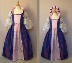 robe du soleil violette et rose clair