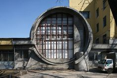 Konstantin Melnikov, Gosplan Garage, Moscow. 1936 by rpa2101, via Flickr
