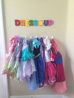 Toddler Dress-Up area ideas Toddler Playroom, Toddler Rooms, Kids Bedroom Ideas For Girls Toddler, Toddler Room Decor, Playroom Organization, Playroom Decor, Playroom Ideas, Organization Ideas, Organizing