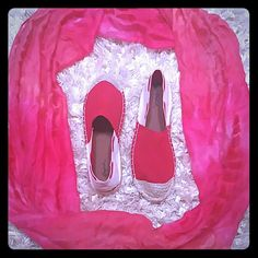 New Beautiful Espadrille Flats Beautiful flats that will look great with jeans,  shorts or maxi dresses. Get your pair before I sell out. Qupid Shoes Flats & Loafers