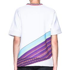 "Digital Print Oversized Neoprene Tee  Product Description: -""Choice We Need"" digital print -Super fine neoprene -V-shape red blue white tapped collar -Seamless sleeves -Fine plated cuff and hem -100%Polyester -Made in Hong Kong  The theme of this collection titled Self-Salvation Oath, which is created through the observation of Street Protest, Civil Disobedience and Social Movement. I wish my creation can drive people attention of the democracy and justice. We have to stand up and strike…"
