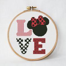 Disney Schemi punto croce Amore il download immediato PDF