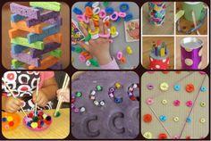 Actividades para estimular y trabajar la motricidad en infantil y preescolar Collage