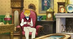 Fun Fact:  See the painting of the cat lady on the wall?  That's Louise, the Baron's girlfriend/fiancee/wife, can't remember which one, from Whisper of the Heart.  I would've cast Emma Thompson as her if she'd gotten a movie. =^.^=