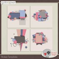 Broken Digital Scrapbook Templates. $3.00 at Gotta Pixel. www.gottapixel.net/