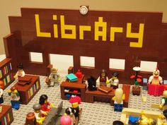 Lego public library-Mr. Library Dude