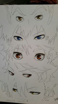 Haikyuu eyes of Bokuto, Kageyama, Hinata, Oikawa & Kuroo