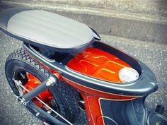 I think custom mini bike like Honda Cub is badass. Found this Honda Chaly by Wedge Paint Factory . Loves the paint scheme. Custom Mini Bike, Scooter Custom, Custom Bikes, Honda Cub, Bobber Motorcycle, Moto Bike, Motorcycles, Ducati, Mini Bici