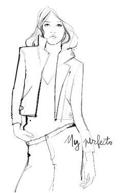 Fashion illustration - chic fashion sketch // Garance Dore