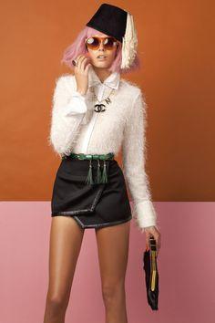Pink hair, fashion, red shades http://au.cloudninehair.com/