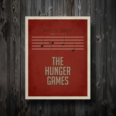 """Rue's Song Hunger Games Inspired Poster 11"""" x 14"""""""