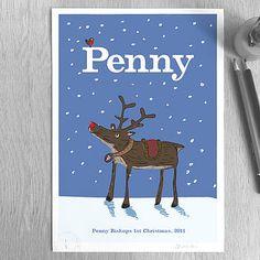 Personalised 'Reindeer' Print
