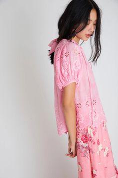 Bronte Top (Fuchsia Hand Dye) - Womens Tops | LoveShackFancy.com