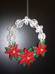 Quilled Christmas wreath.