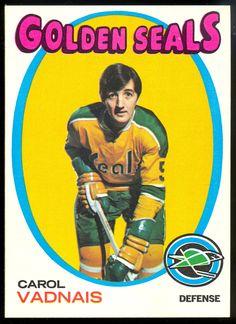 1971 Topps Carol Vadnais Hockey Card for sale online Hockey Shot, Ice Hockey, Hockey Cards, Baseball Cards, School Memories, National Hockey League, Hockey Players, Seals, Trading Cards