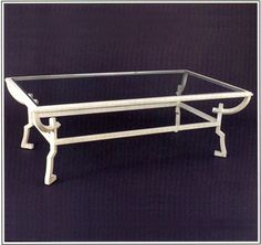 """9088  IRON TABLE SHOWN WITH OPTIONAL INSET GLASS TOP FINISH SHOWN: ASPEN BASE DIMENSIONS SHOWN W 30"""" L 54"""" HT 18"""""""