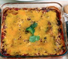 Our Southwestern Black Bean Casserole is a nice, healthy way to enjoy Mexican food.  #Mexicanfood #blackbean #casserole