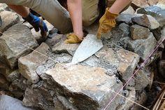 DIY Stone Foundation - Thehomesteadingboards.com