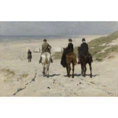 Morning Ride Along The Beach Canvas Art - (24 x 18)