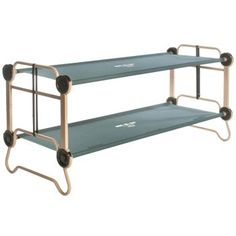 old folding camp cot WWII vintage wood  canvas army cot