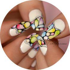 deco ongles aquarelle