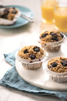 Meals to make and give to new parents | Recipes that come to the rescue when babies are keeping 'em busy! Baked Oatmeal Cups, Baked Banana, Sunday Meal Prep, Unsweetened Applesauce, Baking Cups, Easy Food To Make, Pudding Recipes, Pumpkin Spice, Sweet Treats