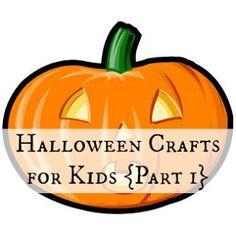 Halloween Crafts for Kids. #halloween #crafts #kids