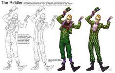 Arkham City Riddler by Chuckdee on DeviantArt Batman Arkham City, Batman Arkham Origins, Gotham City, Batman Comic Art, Batman Comics, Batman Robin, Dc Comics Characters, Dc Comics Art, Comic Character