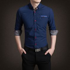 2015 New Spring autumn men casuall shirts mens shirt fashion formal shirt for men high quality Formal Dresses For Men, Formal Shirts For Men, Men Shirts, Summer Outfits Men, Summer Clothes, Camisa Formal, Spring Shirts, Moda Fitness, Pulls
