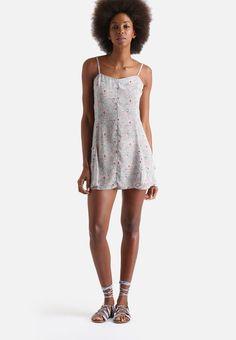 Swirly Paisley Lace Back Cami Dress