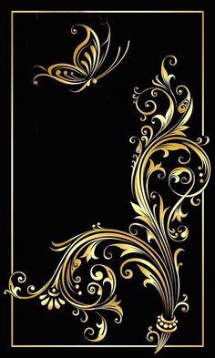 By Artist Unknown. Fractal Art, Fractals, Cellphone Wallpaper, Iphone Wallpaper, Motif Art Deco, Butterfly Wallpaper, Border Design, Art Background, Wallpaper Backgrounds