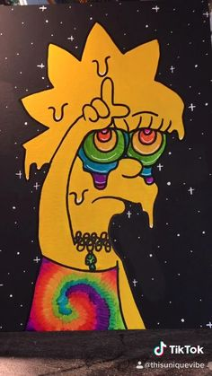 Easy Canvas Art, Simple Canvas Paintings, Small Canvas Art, Mini Canvas Art, Hippie Painting, Trippy Painting, Cartoon Painting, Indie Drawings, Trippy Drawings