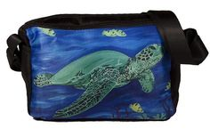 Sea Turtle Messenger Bag by Salvador Kitti - From My Original Painting, Wisdom -  Support Wildlife Conservation, Read How